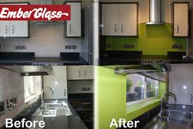 First Full Fit Non Reflective Glass Splashback In The UK Ember Have Expanded Their