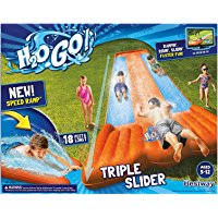 New Inflatable Water Slide Triple Pool Kids Park Backyard Play Fun Outdoor Splash Slip N