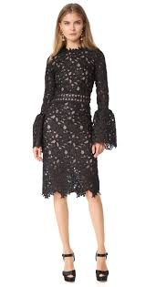 costarellos guipure lace dress with bell sleeves shopbop