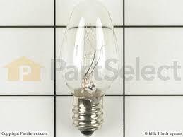 whirlpool w10857122 light bulb 7w partselect