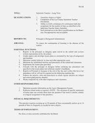 Duties Of A Substitute Teacher - Sazak.mouldings.co 25 Professional Substitute Teacher Resume Job Description Awesome Rponsibilities For Atclgrain Example Cover Letter Company Profile Sample Rrumes For Teachers With New No Music Template Cv Maintenance Samples Velvet Jobs Perfect 25886 Writing Tips Genius Education Entry Level Valid Examples Inspiring Image