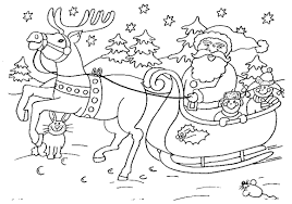 Santa Free Christmas Coloring Pages For Kids