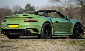 Porsche 911 Turbo S Cabriolet By Edo petition Is Green With