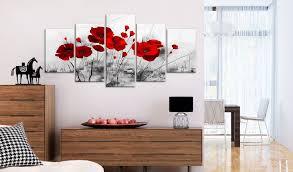 wandbild mohnblumen rot wunder