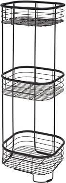 metall badregal schwarz mit 3 korb ablagen 67 cm bad
