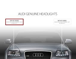 audi vw headlight assembly a6 c6 xenon right side 4f0941030dg