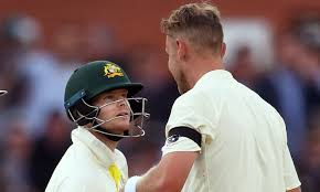 test siege auto 0 1 stuart broad and steve smith r up trash in second ashes test