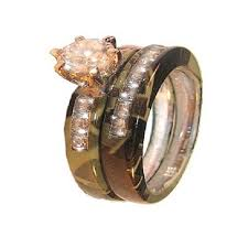 Camo Wedding Rings for Him and Her Camo Wedding Rings
