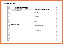Passport Picture Template Photo Double Sided Writing Frame Word Us Timeline Templates For Google Slides Booklet