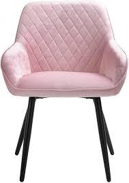 sigtua polsterstuhl umgebener design esszimmerstuhl aus samt pink lehnstuhl edel design küchenstuhl wohnzimmerstuhl schmink stühle sessel weich
