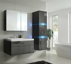 badmöbelset 1 grau hochglanz schwarz badezimmermöbel