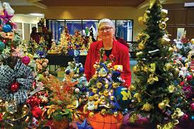 Bernadine Biske A Member Of St Therese Lisieux Parish In Shelby Township Stands Among The Hundreds Christmas Trees For Sale Nov 19 At