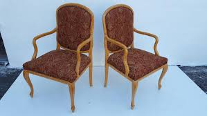 100 Roche Bois Furniture Serge Style Faux Accent Chairs A Pair