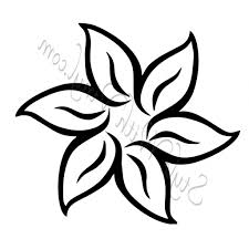 1024x1024 Easy Drawing Flower Flower Drawing Clipartsco