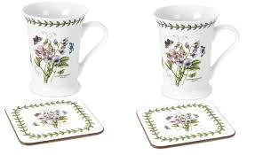Spode Christmas Tree Mug And Coaster Set by Amazon Com Portmeirion Dinnerware Botanic Garden Mug And