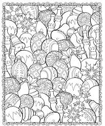 Christmas Ornaments Coloring Page ChristmasScapes Dover Holiday Book