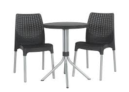 Keter Chelsea 3-Piece Resin Outdoor Patio Furniture Dining Bistro Set With  Patio Table And Chairs, Charcoal Adams Manufacturing Quikfold White Resin Plastic Outdoor Lawn Chair Semco Plastics Patio Rocking Semw 5 Pc Wicker Set 4 Side Chairs And Square Ding Table Gray For Covers Sets Tempered Round 4piece Honey Brown Steel Fniture Loveseat 2 Sku Northlight Cw3915 Extraordinary Clearance Black Bar Rattan Small Bistro Pa Astonishing And Metal Suncast Elements Lounge With Storage In