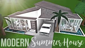100 Modern Summer House Bloxburg 51K No Gamepasses