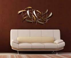lounge room with and vases wanddesign wanddeko