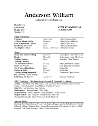 Simple One Page Resume Template And Examples Special Skills For Acting Of Resumes