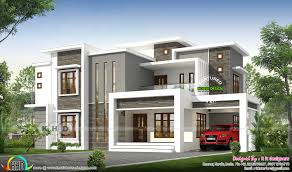 100 Contemporary Home Designs 2496 Sqft Flat Roof Modern Contemporary Kerala House