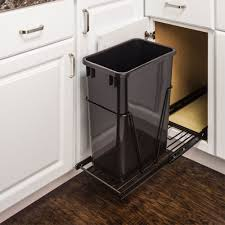 Under Cabinet Trash Can With Lid by Single Trash Can Pullout 15 Inch Cabinet All Cabinet Parts