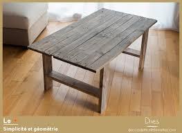 beau table en palettes de bois avec table basse palette bois