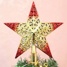 Image Is Loading 20CM Christmas Tree Star Topper Ornament Party Decors