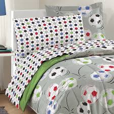 Soccer Themed Bedroom Photography by Amazon Com Dream Factory Soccer Ultra Soft Microfiber Comforter