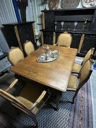 komplettes vintage esszimmer buffetschrank tisch 6 stühle