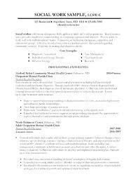 Case Worker Resume Child Psychology Sample Social No Experience Gallery