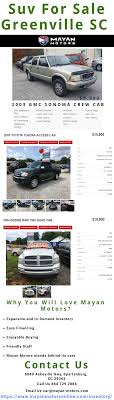 100 Used Trucks For Sale In Greenville Sc Pin By Mayanmotorsseo On Suv SC Pinterest