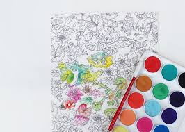 Take Your Adventure To The Next Level With Watercolor Frogs Pattern From Painterly Days Woodland Watercoloring Book For Adults