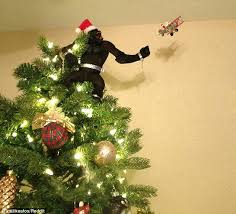 Black Angel Christmas Tree Topper Uk by Creative Christmas Tree Decorations Feature King Kong Godzilla