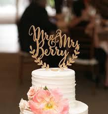 Custom Wedding Cake Topper Personalized Rustic