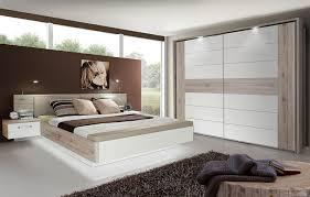 schlafzimmer mit bett 180 x 200 cm sandeiche weiss