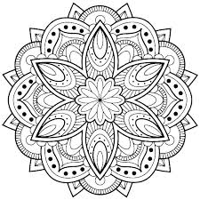 Easy Animal Mandala Coloring Pages Printable Free