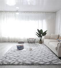 hochflor teppich wohnzimmerteppich langflor teppiche für wohnzimmer flauschig shaggy schlafzimmer bettvorleger outdoor carpet 120 x 160 cm weiß mit
