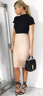 Nice 49 Cool Winter Outfits Ideas With Pencil Skirt