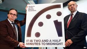 Recently One Of The Scientists Who Put Out Annual Bulletin Lawrence Krauss Was Asked If Clock Should Be Moved Up Another Minute Or So