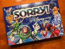 Sorry The Disney Edition Board Game 2001 COMPLETE SHIPS FAST