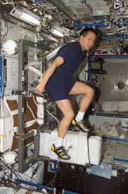 Astronaut Edward T Lu Exercises On The Cycle Ergometer With Vibration Isolation System CEVIS