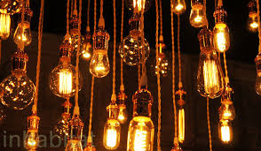chandy s recycled chandeliers use vintage edison bulbs with