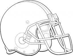 Football Helmet Coloring Pages Coloringsuite Free Kids
