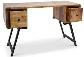 bureau bois recyclé bureau original bois recyclé et métal lestendances fr