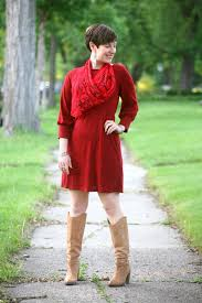 Vintage Red Sweater Dress Archives
