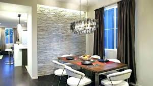 Dining Room Accent Wall Modern Contemporary With A Gray Stone