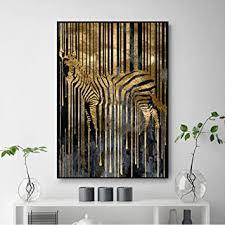 moderne abstrakte gold und schwarz zebra poster und drucke
