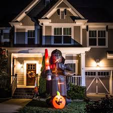 Gemmy Inflatables Halloween by Shop Gemmy 8 Ft X 5 Ft Lighted Darth Vader Halloween Inflatable At
