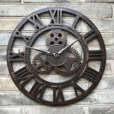Horloge Mural 3d Achat Vente Pas Cher Pas Cher Grande 3d Luxe Rétro Rustique Grande Vintage